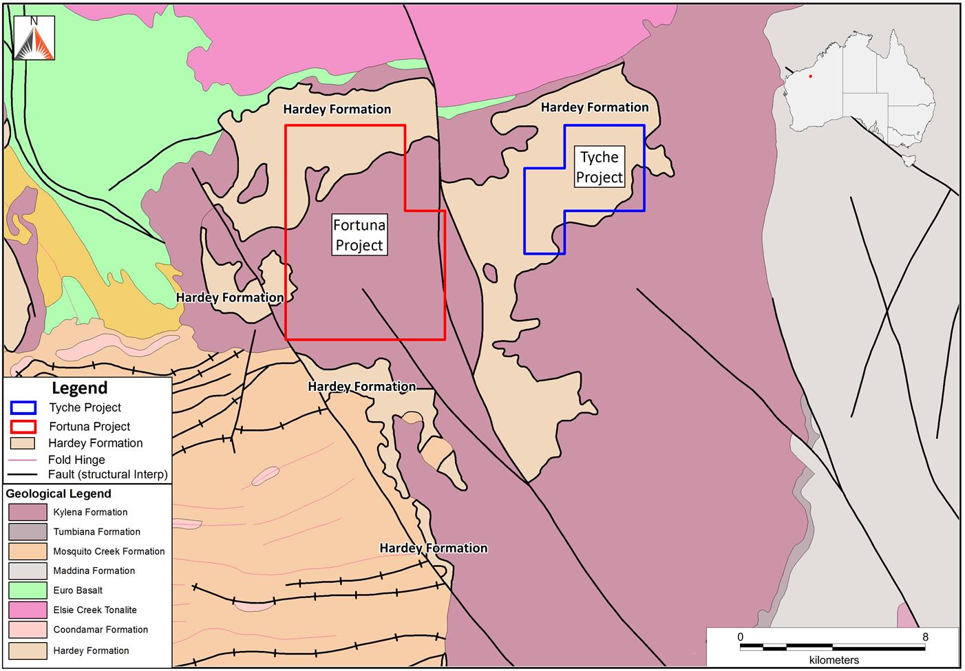 Fortuna and Tyche Projects - gold mine in Western Australia's Pilbara region